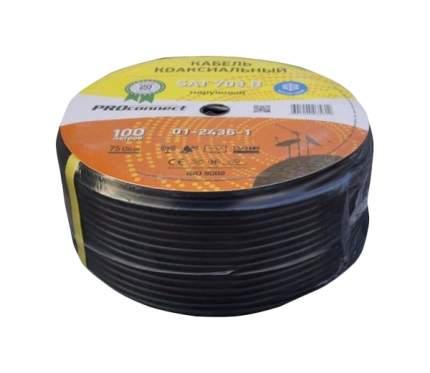 Кабель телевизионный Proconnect Coax - Coax 100м Black (SAT 703 01-2436-1)