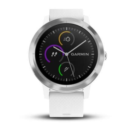 Смарт-часы Garmin Vivoactive 3 серебристые/белые