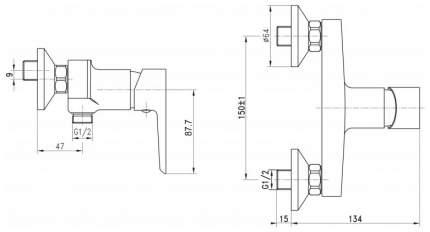 Смеситель для душа BelBagno ROWENA ROW-ESDM-CRM хром