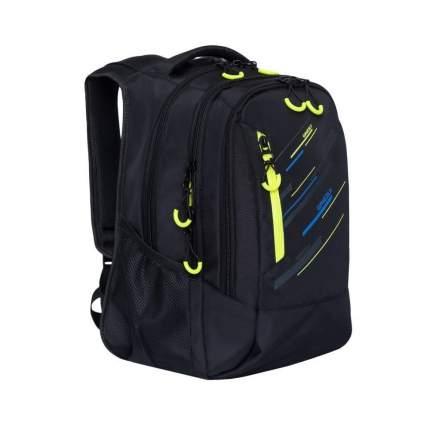 Рюкзак Grizzly RU-934-1 черный/салатовый 17 л