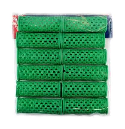 Аксессуар для волос Dewal Бигуди пластиковые d=26 мм Зеленый 12 шт