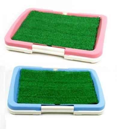 Туалет для собак Dog Land с искусственной травой, в ассортименте, пластик, 47х34х5,5 см