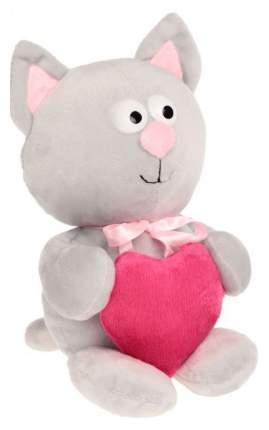 Мягкая игрушка Princess Love Котик с сердцем белый