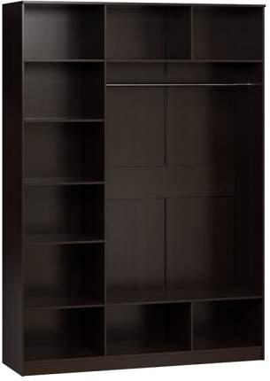 Платяной шкаф Divan.ru Лайт-3 170х50х210, венге темный