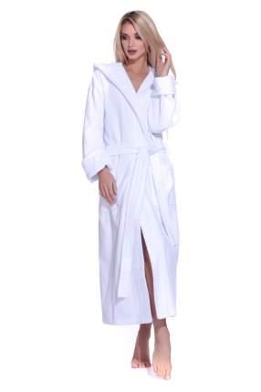 Женский махровый халат с капюшоном SPORT&Life (Е 901-1), цвет белый, размер 46-48