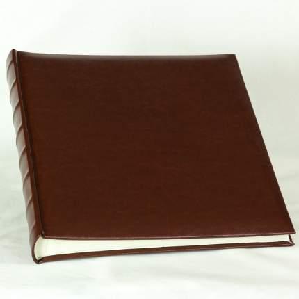 Фотоальбом из однотонной гладкой эко-кожи под уголки на 60 страниц, 28х32 см