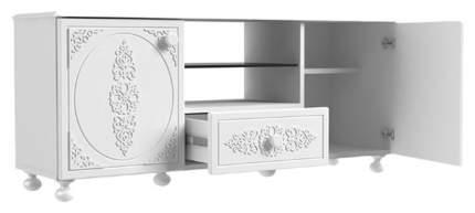 Тумба под телевизор приставная Компасс-мебель Ассоль АС-13 125x36x53,5 см, белое дерево