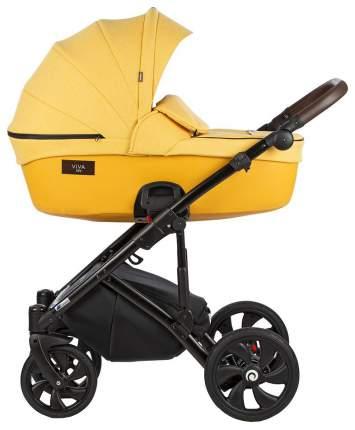 Коляска Tutis Viva Life 3 в 1 075 пастельно-жёлтый, кожа шафрановый