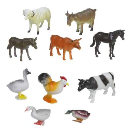 Набор животных Bondibon ребятам о зверятах, домашние животные и птицы, 4 вв1634