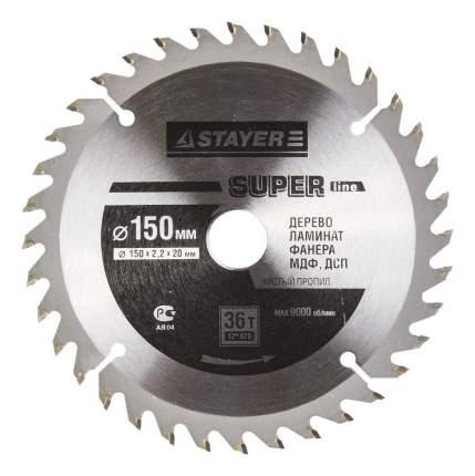 Диск по дереву для дисковых пил Stayer 3682-150-20-36