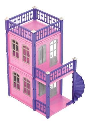 Домик для кукол замок принцессы 2 этажа розовый
