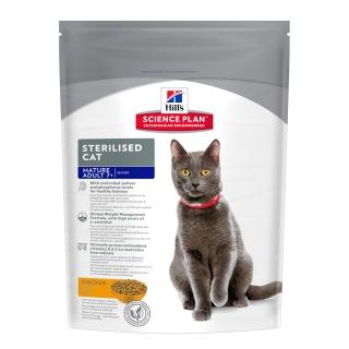 Сухой корм для кошек Hill's Science Plan Sterilised Adult 7, курица, 0,3кг