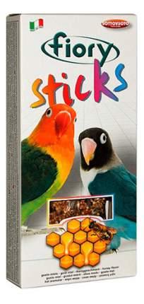 Лакомства для птиц fiory палочки для средних попугаев с медом, 120г