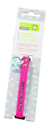 Ошейник для кошек HUNTER Modern Luxus искусственная кожа, розовый, 23-30 см