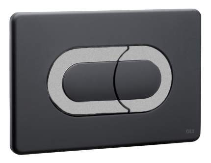 Кнопка смыва OLI Salina черный/хром матовый (640099)