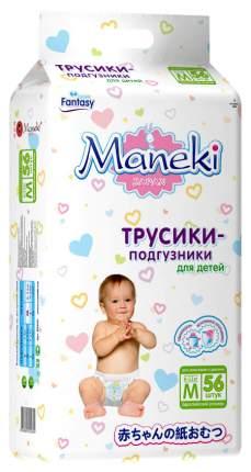 Подгузники Maneki Fantasy M (6-11 кг), 56 шт.