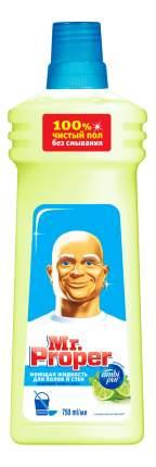 Универсальное чистящее средство для мытья полов Mr. Proper бодрящий лайм и мята 750 мл