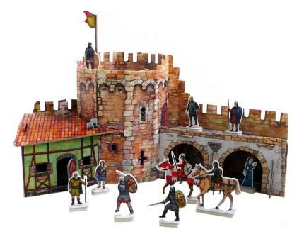Аппликация из картона Умная бумага Угловая башня