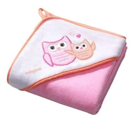 Полотенце детское Babyono Велюровое 100x100 см розовое