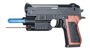 Пистолет с Лазерным прицелом, Фонариком и пульками