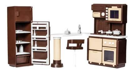Мебель для кухни для кукольного дома Огонек