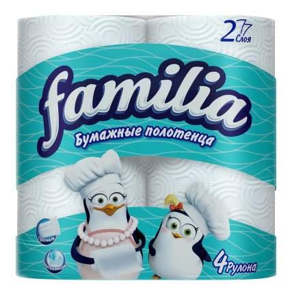 Полотенца Familia бумажные двухслойные 2 штуки