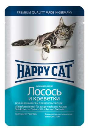 Влажный корм для кошек Happy Cat, лосось, морепродукты, 100г