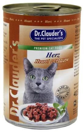 Консервы для кошек Dr.Clauder's, сердце, 415г