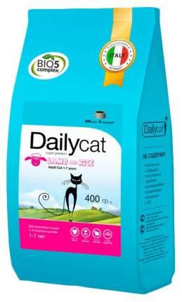 Сухой корм для кошек Dailycat Adult, ягненок и рис, 0,4кг