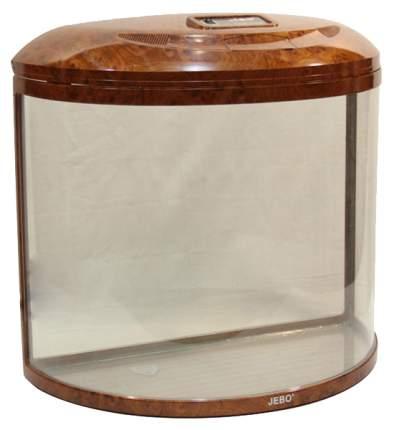 Аквариум для рыб Jebo R 760, бесшовный, с изогнутым стеклом, орех, 62 л