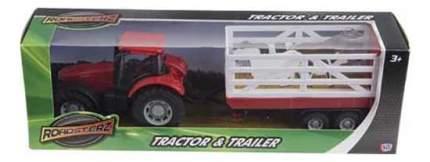 Трактор HTI Трактор с прицепом красный