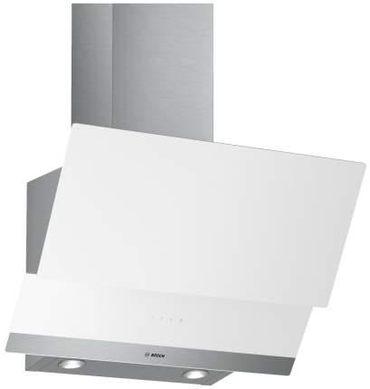 Вытяжка наклонная Bosch DWK065G20R White/Silver