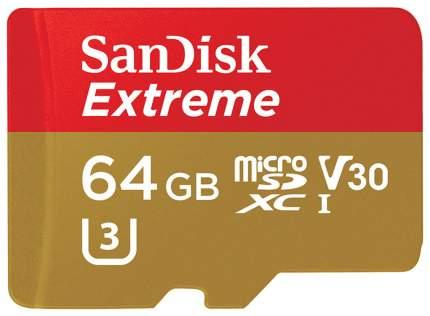 Карта памяти SanDisk Micro SDXC Extreme U3 64GB