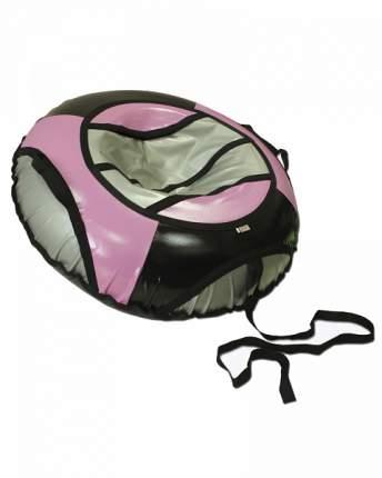 Тюбинг детский Belon Тент с мягкими ручками серо-черно-розовый 85 см