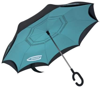Зонт-трость механический GROSS 69701 голубой/черный