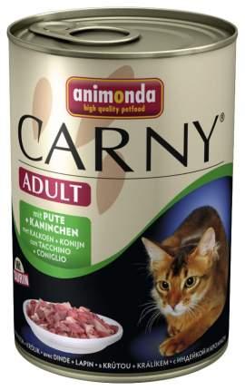 Консервы для кошек Animonda Carny Adult, индейка, кролик, 400г