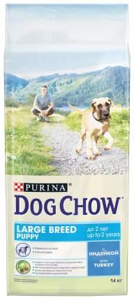 Сухой корм для щенков крупных пород Dog Chow Puppy, индейка, 14 кг
