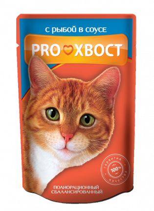 Влажный корм для кошек ProХвост, рыба, 85г