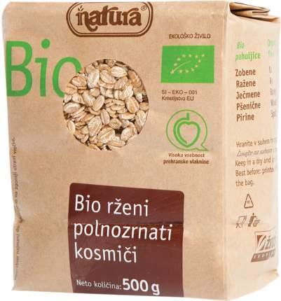 Хлопья ржаные Natura цельнозерновые органические 500 г