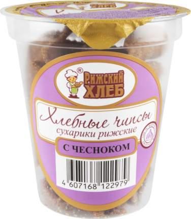 Чипсы хлебные Рижский Хлеб с чесноком 100 г