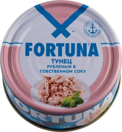 Тунец рубленый Fortuna в собственном соку 185 г