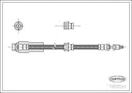 Шланг тормозной Corteco 19032287