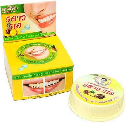 Травяная отбеливающая зубная паста с экстрактом Ананаса
