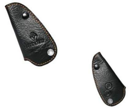 Чехол-брелок для ключа автомобилей кожа с прострочкой желтой нитью Renault 7711546608