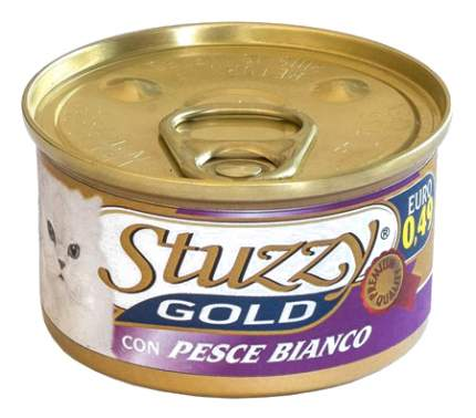 Консервы для кошек Stuzzy Gold, белая рыба, 24шт по 85г