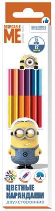 Карандаши цветные Minions 12 цветов