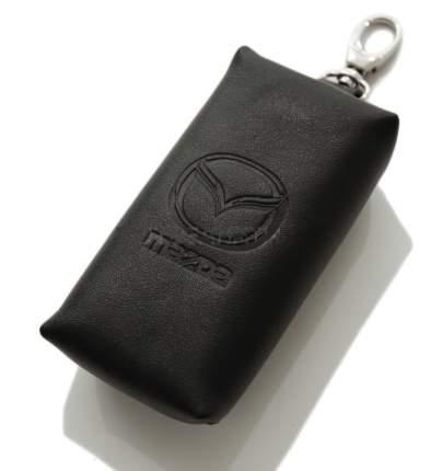 Кожаный футляр для ключей Mazda Leather Key Case, Black, 830077554