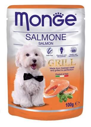 Влажный корм для собак Monge Grill, лосось, 100г