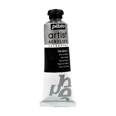 Акриловая краска Pebeo Artist Acrylics extra fine №1 марс черный 37 мл