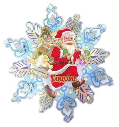 Панно бумажное Новогодняя сказка «Снежинка» 45х45 см